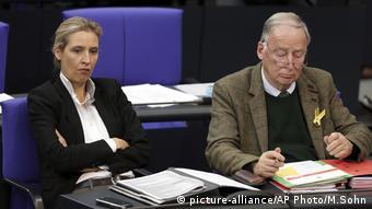 Deutschland Parlament Bundestag Alice Weidel und Alexander Gauland