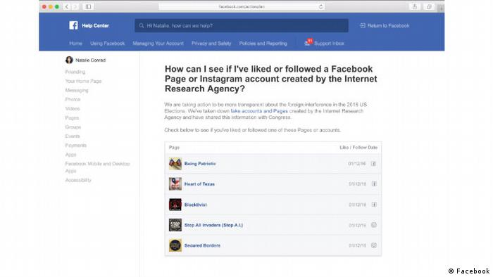 Facebook mock-up shows the future interface of the transparency tool (Facebook)