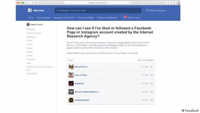 Facebook Tool - Transparenz über den Einfluss von Internet Research Agency