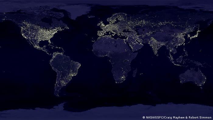 Lichtverschmutzung NASA Aufnahme (NASA/GSFC/Craig Mayhew & Robert Simmon)