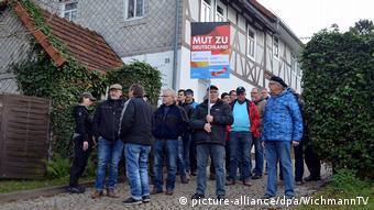 Protesters against Holocaust memorial replica in Bornhagen