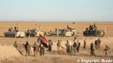 Irak Truppen nahe Syrischer Grenze Video grab
