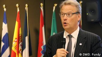 Brüssel - Der Europaabgeordnete Hannu Takkula bei der Eröffnung der EU Robotics Week