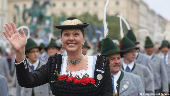 German CSU politician Ilse Aigner at an October festival parade