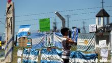 Am Marinestützpunkt in Mar del Plata haben Angehörige ihre Sorge um die Besatzung zum Ausdruck gebracht