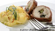 Katoffelsalat mit Hühnchenrollen | Verwendung weltweit