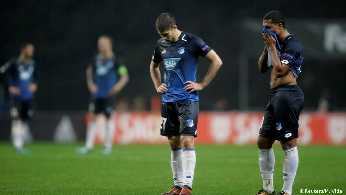 Hoffenheim players in their loss to Braga (Reuters/M. Vidal)