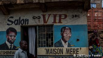 Kongo DRK Friseursalon in der Stadt Bukavu (DW/Flávio Forner)