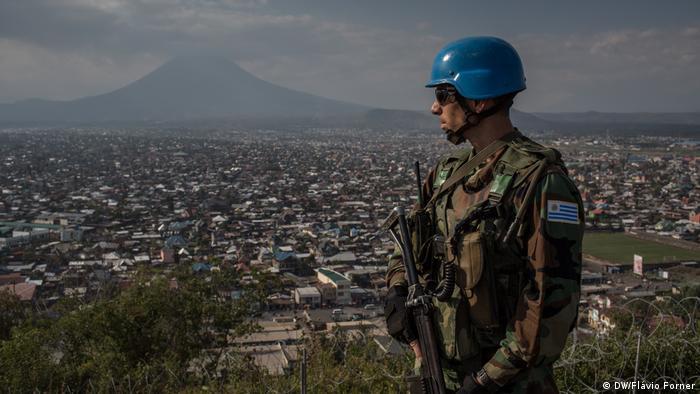 Kongo DRK UN-Soldaten der Mission MONUSCO (DW/Flávio Forner )
