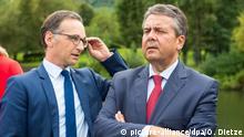Würden sich einer weiteren Groko nicht verschließen: Außenminister Gabriel (r.) und Justizminister Maas (Archivbild)