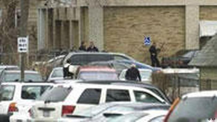 USA Schießerei und Geiselnahme in Binghamton NY (AP)