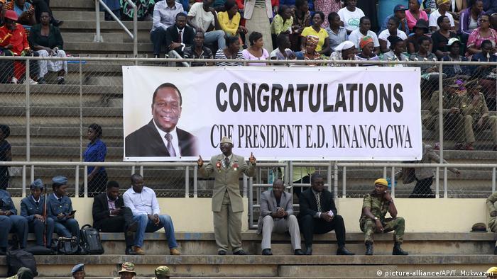 Simbabwe Harare Vereidigung Präsident Mnangagwa