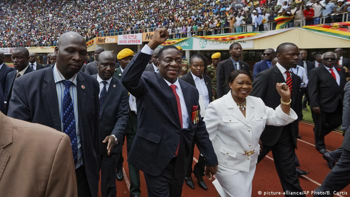 Emmerson Mnangagwa and wife Auxillia