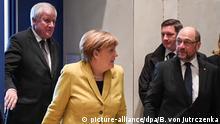 Berlin Angela Merkel, Horst Seehofer und Martin Schulz