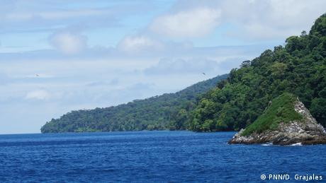 Landscape view of Pacific Ocean by Gorgona National Park in Colombia (PNN/D. Grajales)