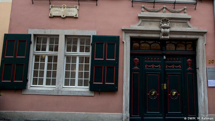 Frontis de la casa natal de Beethoven.