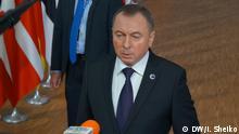 Brüssel EU-Gipfel Wladimir Makej Außenminister von Weißrussland