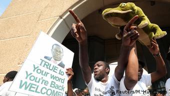 Simbabwe Unterstützer des neuen Präsidenten Emmerson Mnangagwa