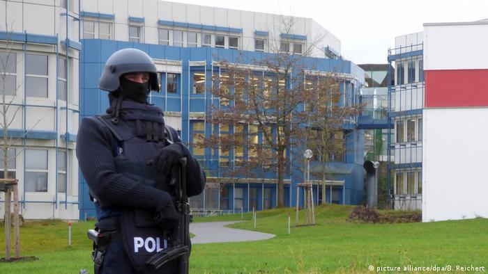 Deutschland Amokdrohung an der Uni Trier (picture alliance/dpa/B. Reichert)