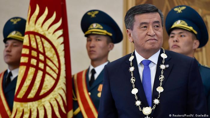 Президент Киргизии Сооронбай Жээнбеков во время инаугурации в 2017 году