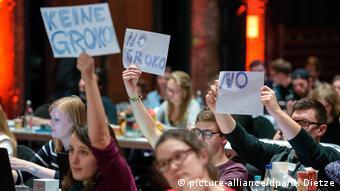 «Όχι στον μεγάλο συνασπιμό» λέει η νεολαία του SPD