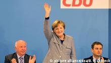 Merkel at the CDU party conference (picture alliance/dpa/B. Wüstneck)