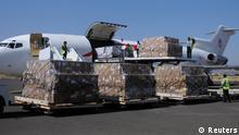 Jemen Flugzeuge mit Hilfsgütern im Sanaa gelandet