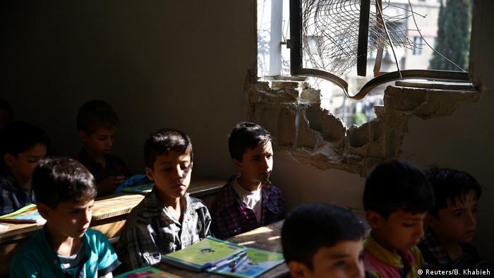 Vom Krieg zerstörte Schulen in Syrien Douma
