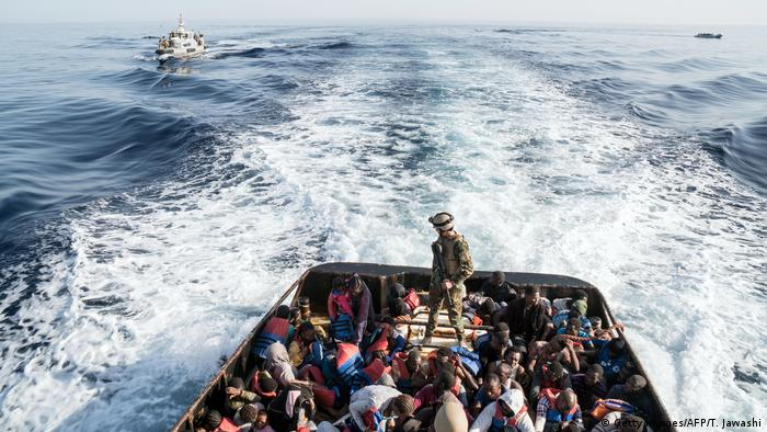 Libya's coastguard has started to intercept migrants at sea and take them to detention camps in the North African country