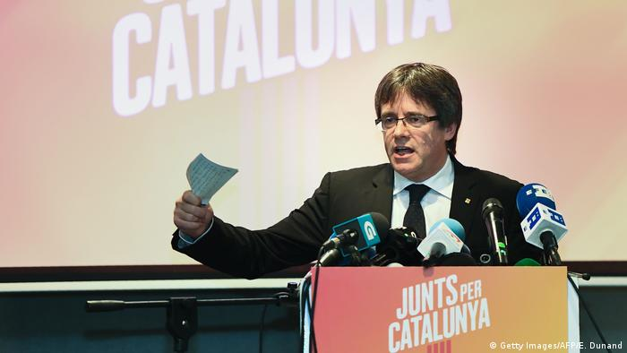 Carles Puigdemont in Osstkamp bei Brügge (Getty Images/AFP/E. Dunand)