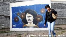Honduras Wandgemälde der ermordeten Aktivistin Berta Caceres
