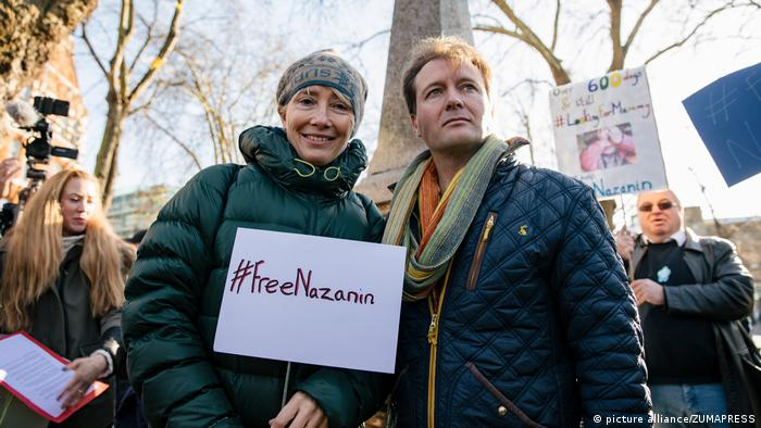 Emma Thompson bei Demonstration für Nazanin Zaghari-Ratcliffe (picture alliance/ZUMAPRESS)
