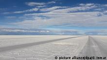 Uyuni-Salzsee in Bolivien