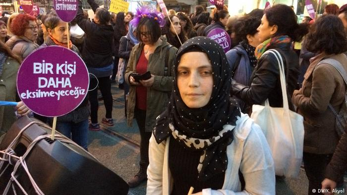تظاهرات در اعتراض به خشونت علیه زنان در ترکیه؛ استانبول سال ۲۰۱۷