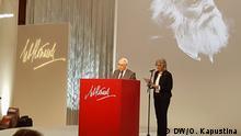 Direktor des russischen Levada-Center Lew Gudkow bei der Verleihung des Lew-Kopelew-Preises in Köln 26.11.2017 Bild: DW/Olga Kapustina