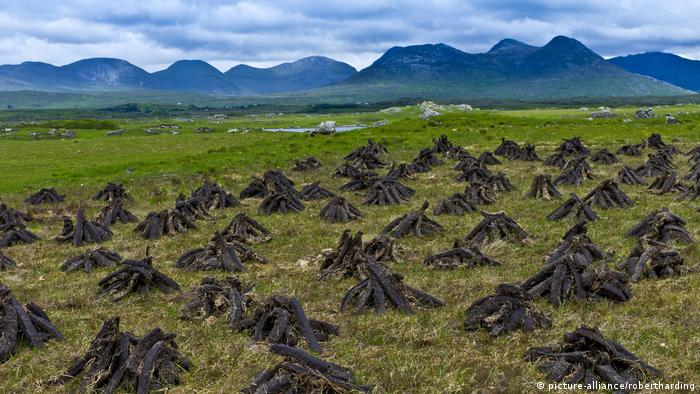 Harvesting peat in Ireland (picture-alliance/robertharding)