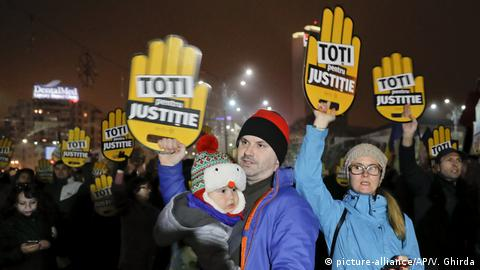 Protesters in Bucharest insist they are