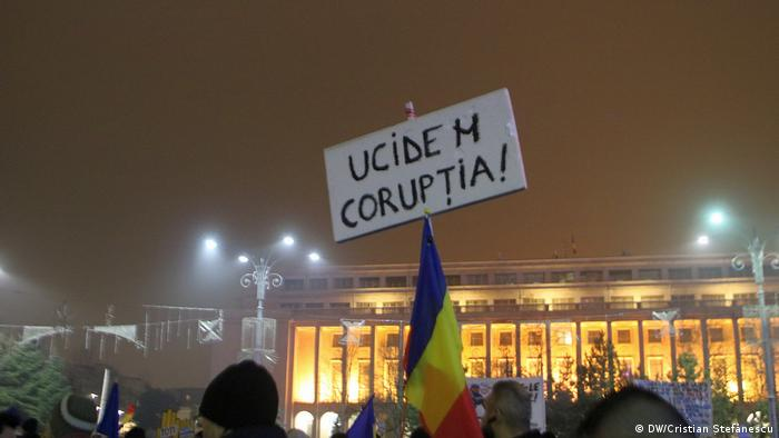 Protest anti-corupție la București în noiembrie 2017