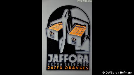 Advertisement for Jaffa oranges (Photo: DW/Sarah Hofmann)