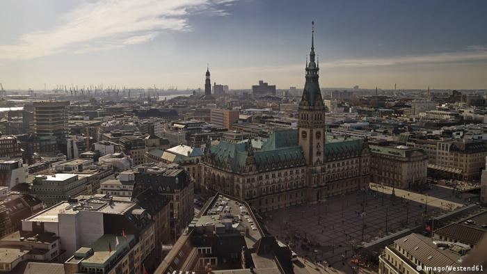 A view of Hamburg's city center