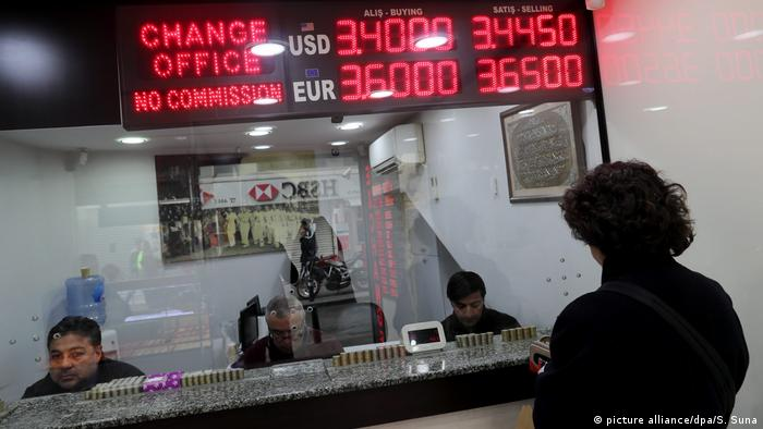 Türkei Wechselstube in Istanbul
