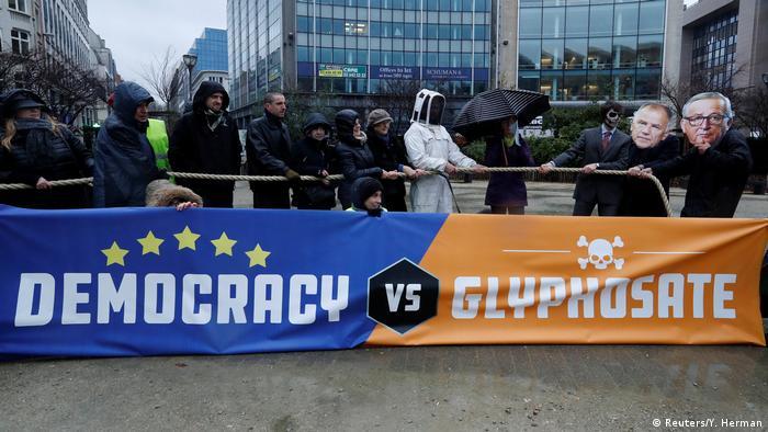 Протесты в Брюсселе против использования глифосата