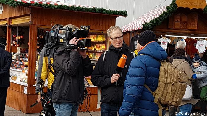 Journalists at Breitscheidplatz Christmas market