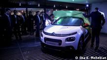 Citroën C3, gemeinsames Projekt von Citroen und der iranische Autohersteller Saipa. Die Internationale Automesse findet zum zweiten mal in Teheran statt. Deutschland, Frankreich, China, Japan und Südkorea sind einige der ausländische Gäste, die dieses Jahr an der Messe teilgenommen haben.