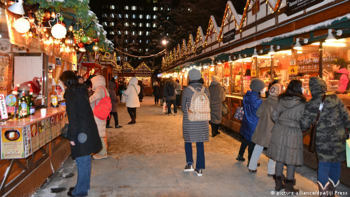 german christmas market sapporo japan