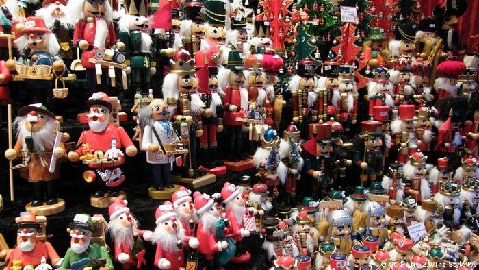 Little wooden incense men hang at the Leeds German Christmas market (CC BY-NC 2.0/The Style PA)