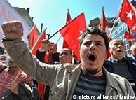 Τούρκοι διαδηλωτές κατά της επίσκεψης Ομπάμα