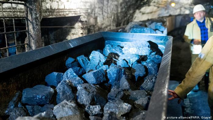Hard coal mine in Katowice, Poland
