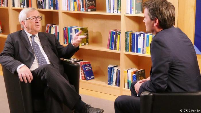 Brüssel, Jean-Claude Juncker, Präsident EU-Kommission (DW/D.Pundy)