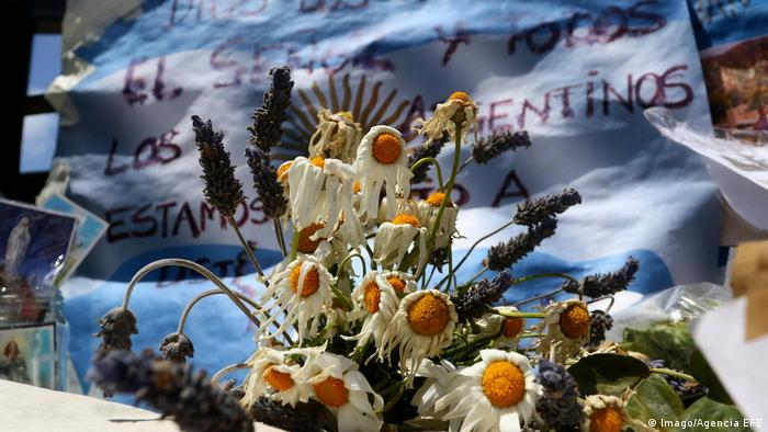 Argentinien Gedenken an vermisstes U-Boot ARA San Juan am Naval Base in Mar del Plata (Imago/Agencia EFE)